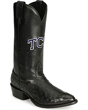 Nocona MDTCU03 Mens Texas Christian University Ostrich Branded College Boots