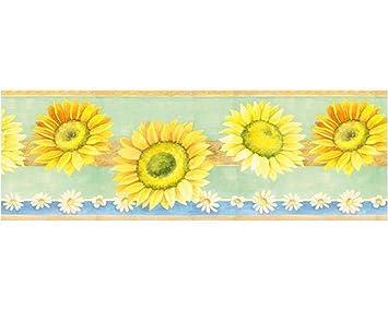 Sunflower Escape Prepasted Wallpaper Border