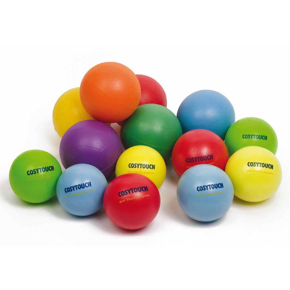 Cosyソフトタッチボール200 mmパックof 6