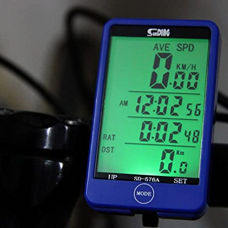 Amazon.com : 27 Functions Touch Button Bike Computer LCD Backlight Bicycle Computer Speedometer Odometer Wired Cycle Velocimetro Bicicleta : Sports & ...