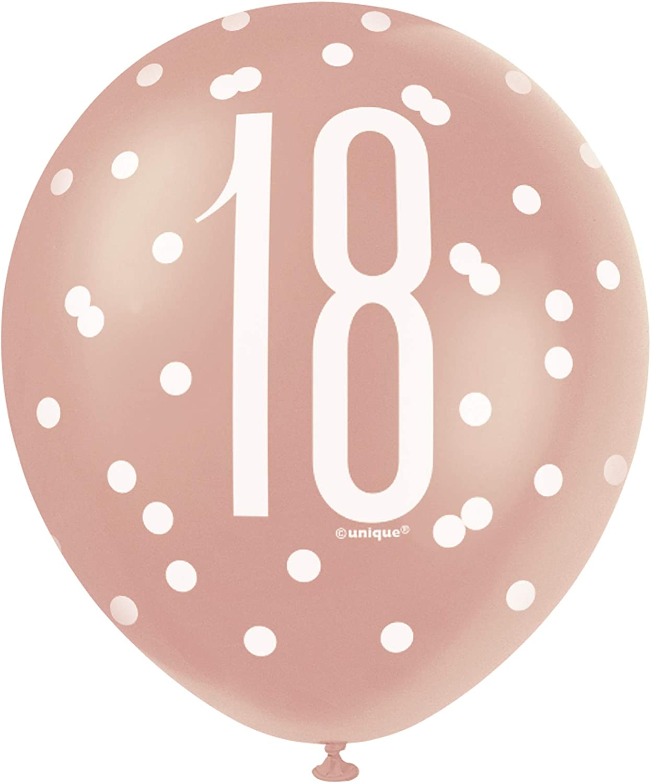 Age 50 Unique Party 84904 84904-18 Foil Glitz Rose Gold 50th Birthday Balloon