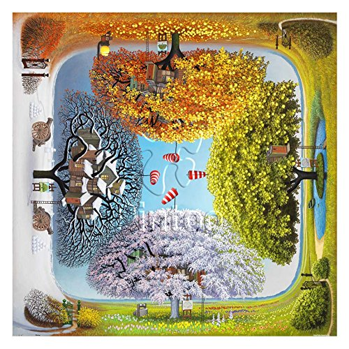 Pintoo - H1925 - Jacek Yerka - Apple Tree - 1600 Piece Plastic Puzzle