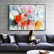 MMLUCK Flores abstractas de la Acuarela Pinturas de la Pared Flores Modernas Arte Pop Impresiones de la Lona y Carteles Cuad