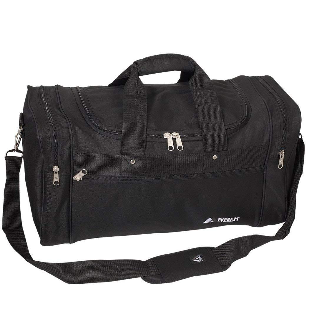 ブラックCarry On Duffelバッグ、軽量、スポーツバッグ、multi-compartment、ポリエステル   B01M0DNO6X