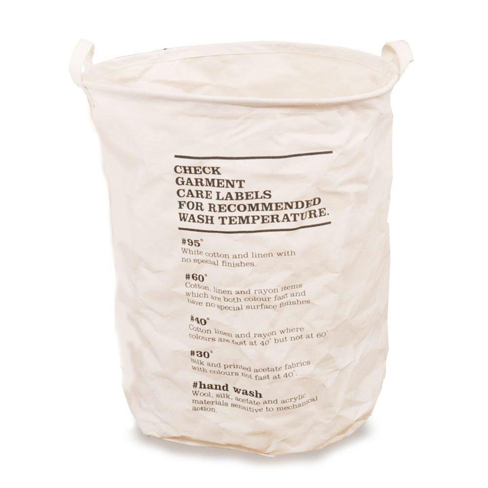 HuntGold折りたたみ式ラウンドランドリーバスケット服ストレージビンHamper洗濯バッグオーガナイザースモール印刷 B01EUUEPX8