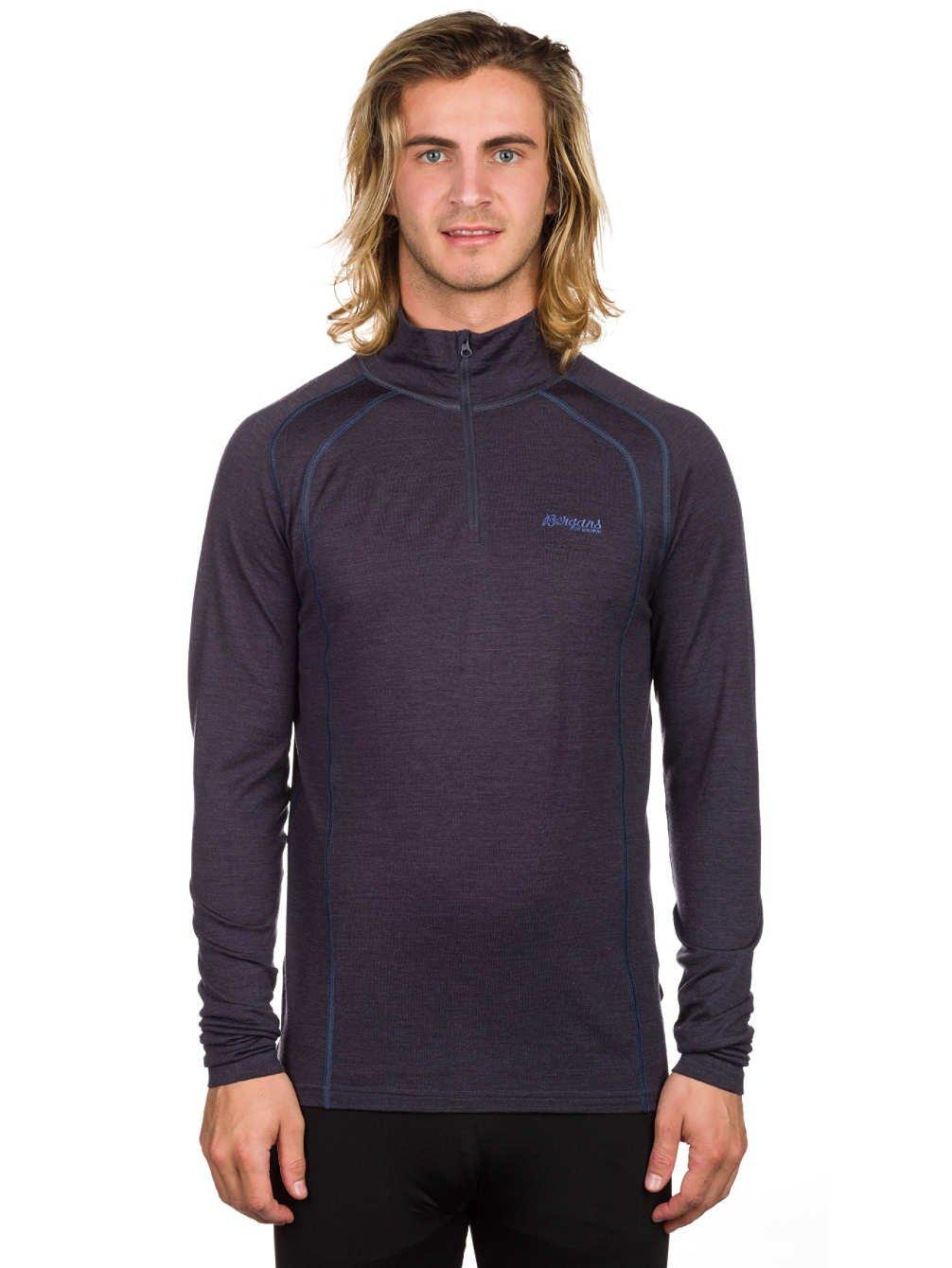 Bergans Fjellrapp Half Zip Long Shirt Men - 210er Merinowolle