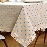 justice flat iron - Cotton And Hemp, Machine Washable, Dinner, Summer & Picnic Tablecloth, Available In Various Sizes(Blue,23.5x23.5In)