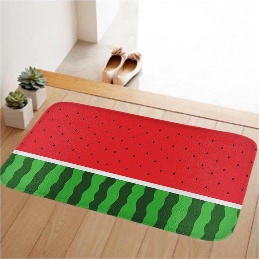 ToLuLu Small Doormat Low Profile Door Mat Door Indoor/Bedroom/Front Door/Bathroom/Kichten etc Mats,23.6 x 15.7 inches,Anti-slip,Lock water,enviroment,Watermelon