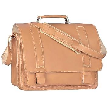 9b01f6bca2ba1 Ruitertassen Lehrertasche 40cm XL Büchertasche Schultasche Aktentasche 2  Fächer 1 Vorfach Tragegriff Schultergurt natur braun