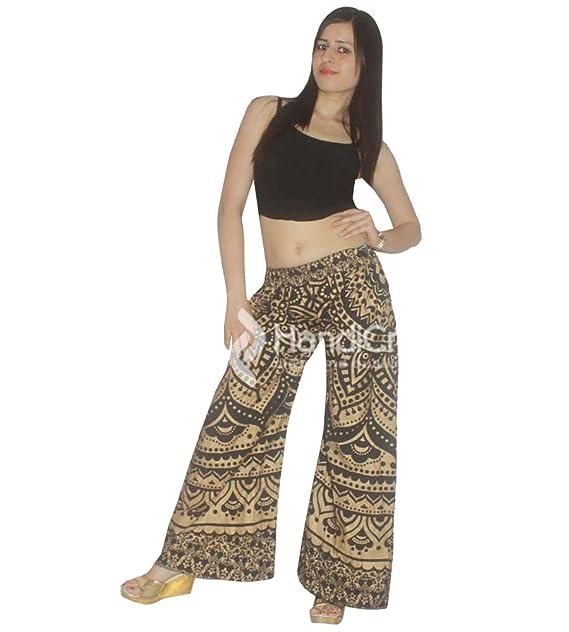 Exportaciones Hechas a Mano Piernas Anchas de Mujer Yoga de Cintura Alta Negro Dorado Ombre Imprimir