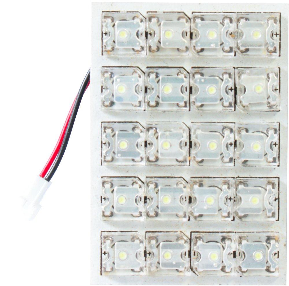 Cora 000120747 Luce di Cortesia 20 LED, 50 x 35 mm, con 5 Attacchi Lampada Cora S.p.A