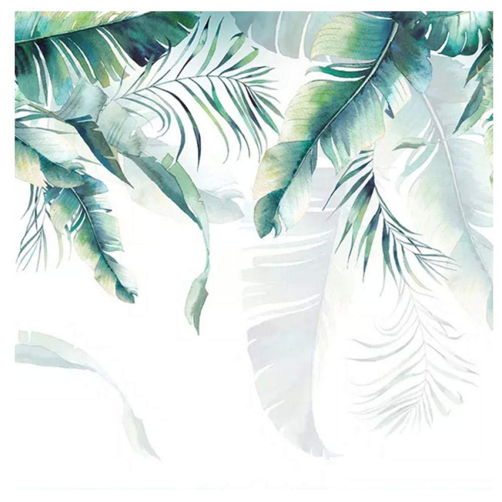 200cm フォト壁画壁紙レトロ熱帯雨林ヤシの木バナナの葉壁画寝室