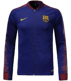 88e5f45270b Amazon.com  NIKE FC Barcelona Anthem Men s Soccer Jacket  Clothing