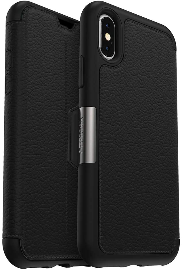 OtterBox STRADA SERIES Case for iPhone Xs & iPhone X - Retail Packaging - SHADOW (BLACK/PEWTER)