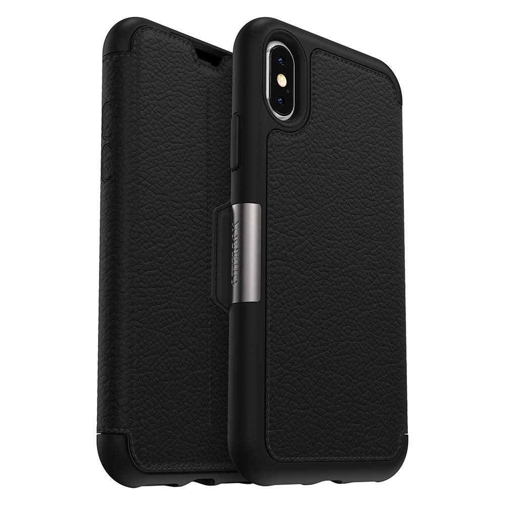 on sale 638dd 3fc18 OtterBox STRADA SERIES Case for iPhone Xs & iPhone X - Frustration Free  Packaging - SHADOW (BLACK/PEWTER)