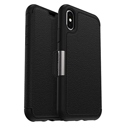 official photos af2ea 83abc OtterBox STRADA SERIES Case for iPhone Xs & iPhone X - Retail Packaging -  SHADOW (BLACK/PEWTER)