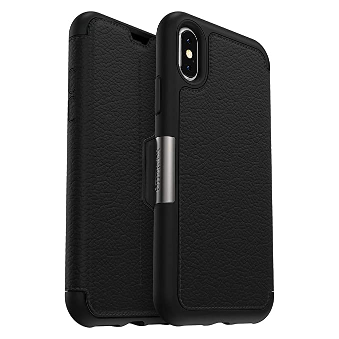 3a8e8b57373399 Amazon.com: OtterBox STRADA SERIES Case for iPhone Xs & iPhone X -  Frustration Free Packaging - SHADOW (BLACK/PEWTER): Cell Phones &  Accessories