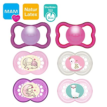 Mam Day & Night//látex//Original Chupete, Air Chupete//6 - 16 Mo ...