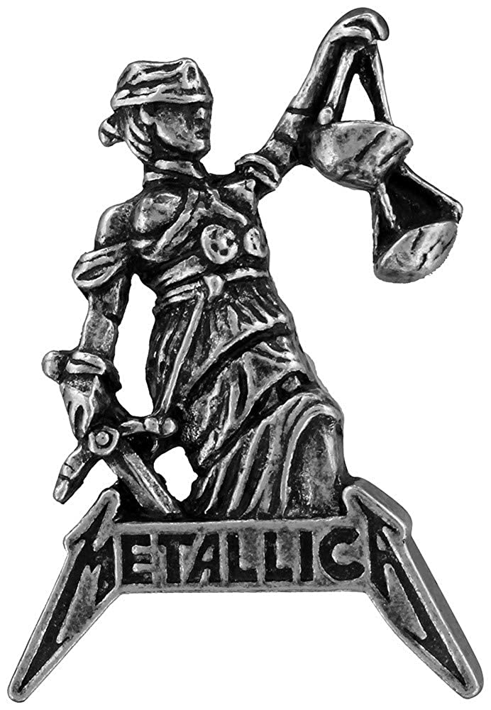 Metallica Badge Alchemy Rocks Justice For All Insigne de Pin d/étain 3 cm