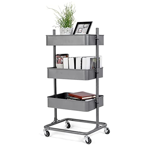 Exceptionnel Giantex Rolling Utility Cart Mobile Storage Organizer Multifunctional Home  Office Storage Trolley Serving Cart W/
