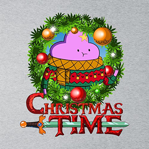 Hooded Hooded Adventure Lumpy Lumpy Cartoon Women's Wreath Heather Time Network Space Princess Sweatshirt Grey Christmas 1qqgOUz