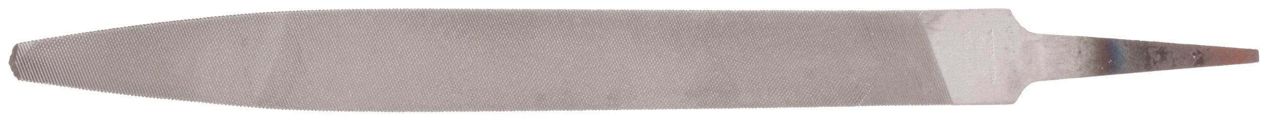 Nicholson Hand File, Swiss Pattern, Double Cut, Half-Round, #0 Coarseness, 8'' Length