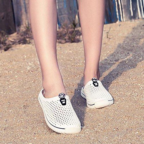 Du Plage Femmes Respirant Rapide Sport Séchage En Deux Hommes Blanc Mailles Sandales Chaussures Des Hlhn Des Plein Pieds Pantoufles Évider Air Aux Nus Unisexe FTzTRq