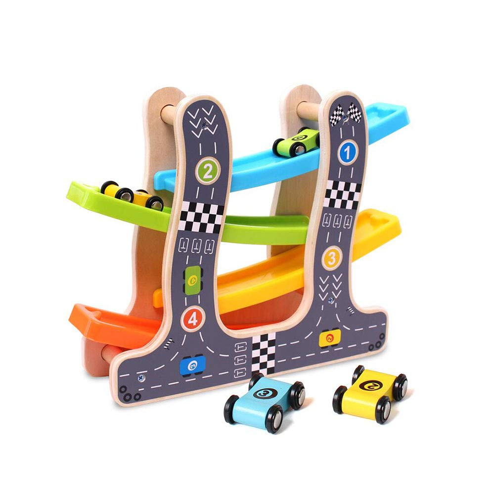 Dall Wooden Big Ramp Racer Wooden Toy Includes Parking Lot No Assembly Required Activity Centres (Size : 001)