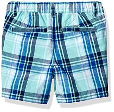 The Children's Place Baby-Boys' Li'l Guy's Plaid Flat Front Shorts