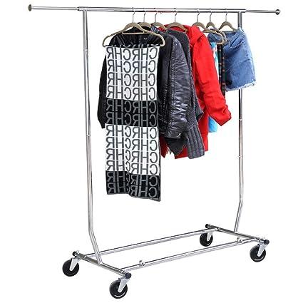 Perchero plegable para ropa comercial, resistente, 250 kg ...