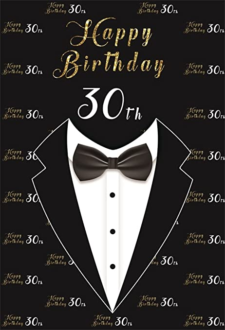 CSFOTO 5x7ft Background Happy 30th Birthday Party Decor Photography Backdrop Suit Tie Gentleman Man Bash