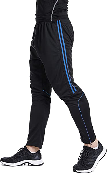 Men/'s Sport Gym Athletic Soccer Fitness Training Running Casual Pants Trousers
