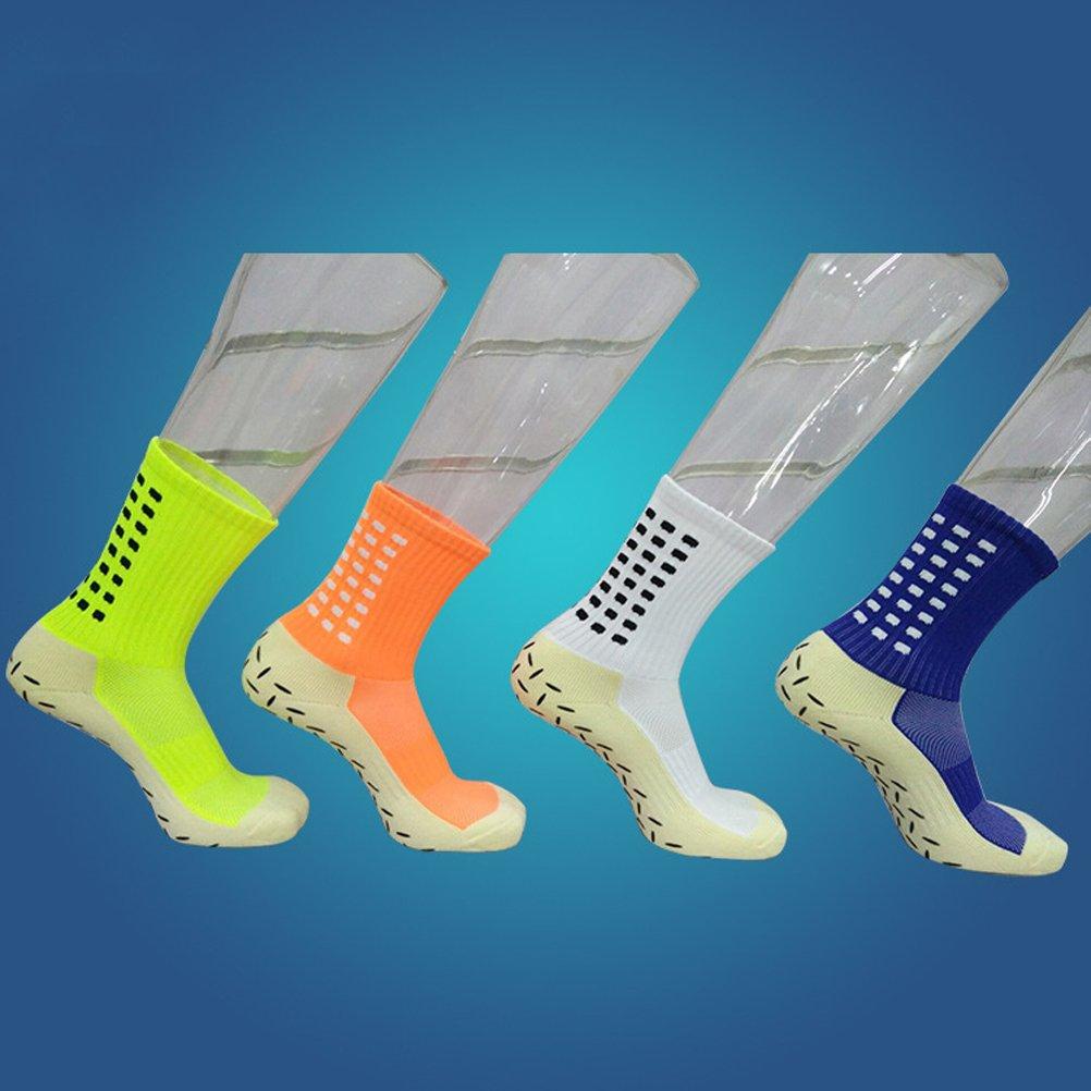 WINOMOメンズスポーツ滑り止めFootball Socks Athletic Soccerチューブソックスショートストッキング(ホワイト) B07C7MN9XH