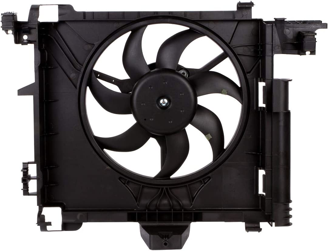 MYSMOT Engine Cooling Fan Assembly For Smart Car Fortwo 451 2007-2015 0002009323