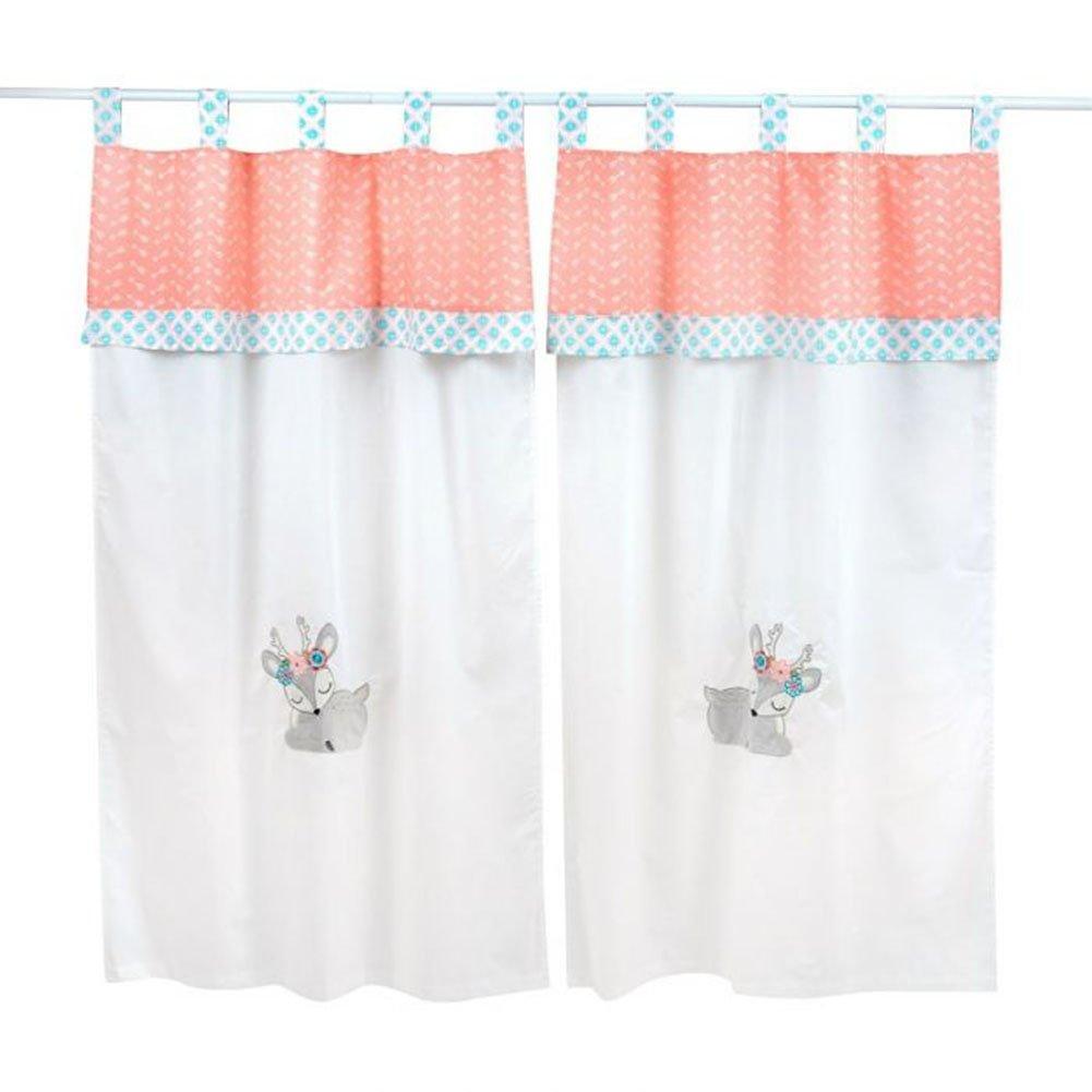 Dream Big Little One Pink Crib Bedding Accessory - Window Curtain