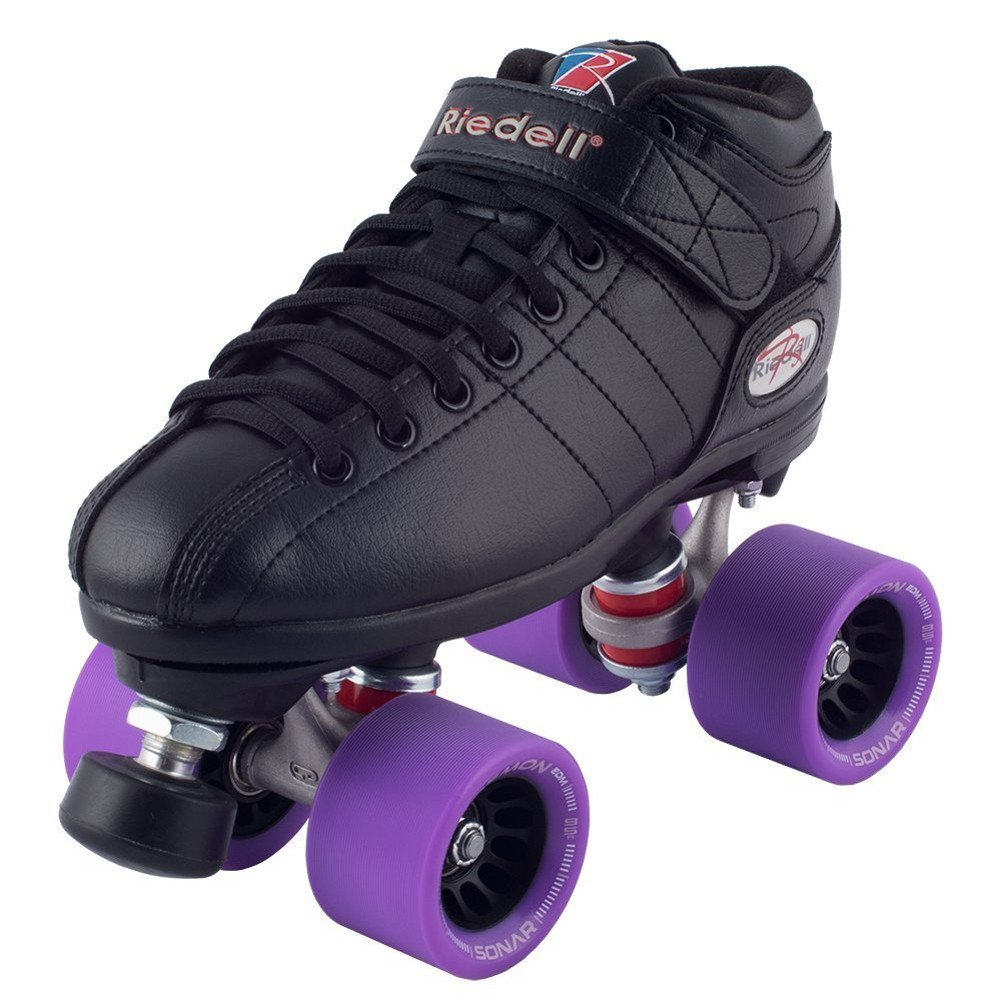 Riedell Black R3 Demon EDM Roller Derby Speed Skates