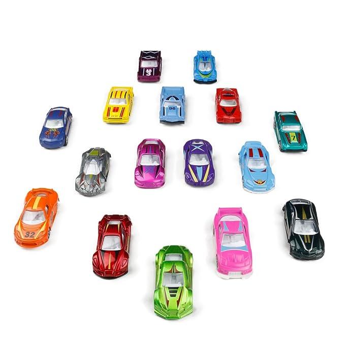 TONZE Coches Niños Juguetes Vehiculos Metálico Mini Miniaturas ...