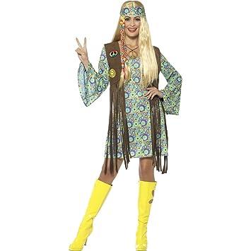 Net Toys Hippie Kostum Damen Flower Power Kleid M 38 40 70er Jahre