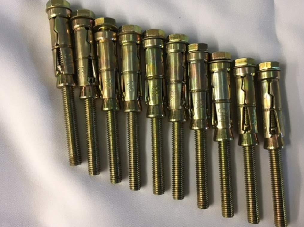 Lot de 10 boulons dexpansion de bouclier dancrage M8 x 40 x 100 mm