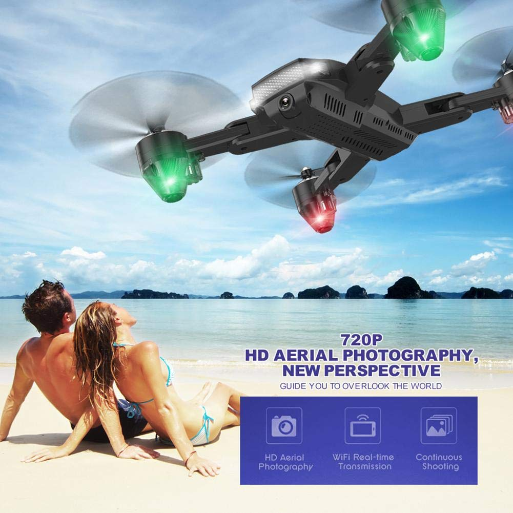 chinatera Foldable Mini Drone, RC Quadcopter with 2 Batteries, Easy to Operate for Beginners, Foldable Arms, 2.4G 6-Axis, Headless Mode, Altitude Hold, One Key Take Off and Landing by chinatera (Image #3)