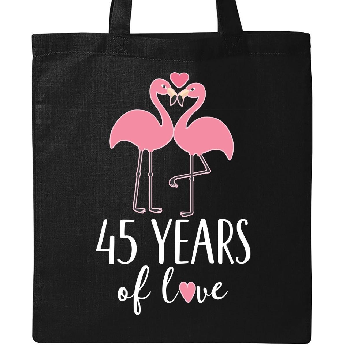 Inktastic 45th Wedding Anniversary Gift Tote Bag Black