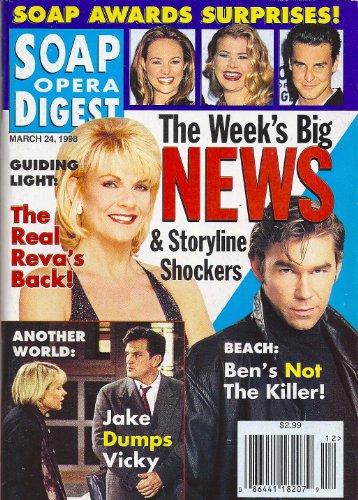 Kim Zimmer, Clive Robertson, Tom Eplin, Jensen Buchanan, Sunset Beach, Another World - March 24, 1998 Soap Opera Digest Magazine