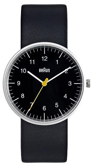 Braun BN-21BKG BN-21BK - Reloj para hombres, correa de cuero color negro: Amazon.es: Relojes