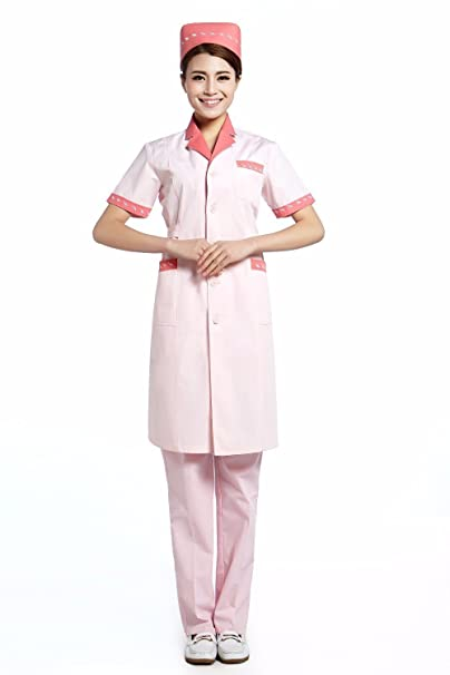 Xuanku 2017 OEM Hospital Uniform Nurse Coat Medical Clothing Long Coat Cotton Plus Size, Pink, XXXL: Amazon.es: Ropa y accesorios