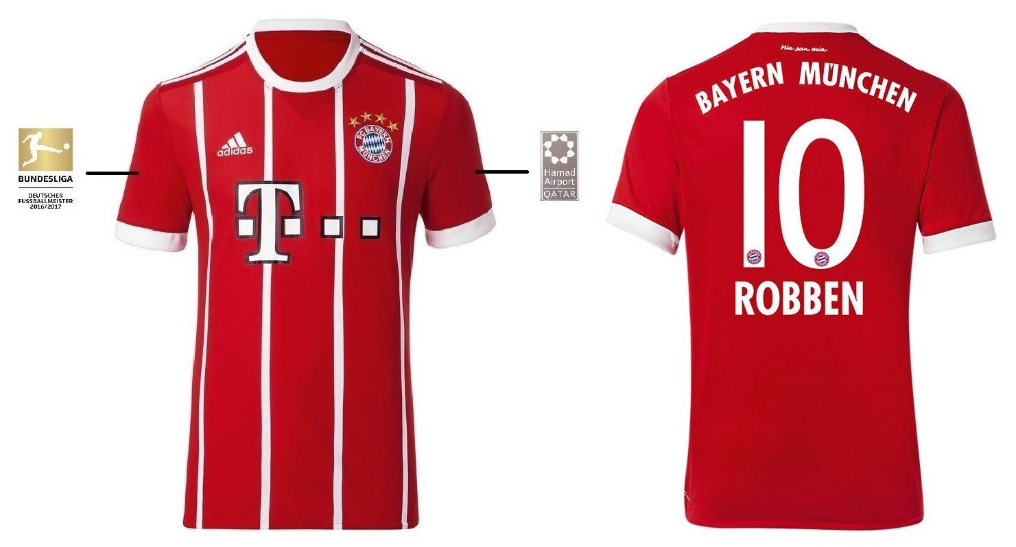Trikot Kinder FC Bayern 2017-2018 Home BL - Robben 10