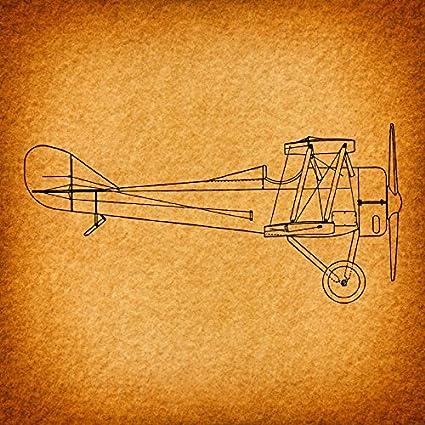Amazon.com: Vintage Airplane Print for Wall Art & Aviation Home ...