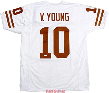 save off 041be b6573 Vince Young Signed Autographed Texas Longhorns White Custom ...