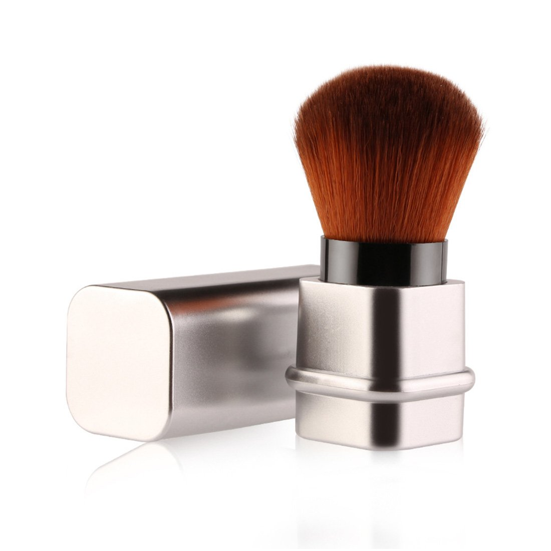YYF Comestic Retractable Concealer Foundation Blush Kabuki Brush Face Powder Bronzer Makeup Brush