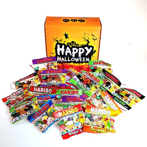 The Ultimate Halloween Haribo Minis Gift Box – Featuring – Haribo Horror Mix, Strawbs, Star Mix, Super Mix and Tangtastics – By Moreton Gifts. (Halloween Ultimate)