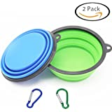 Large Size Collapsible Dog Bowl, Silicone Pet Travel Bowl for Dog Cat Food & Water, Foldable Expandable Cup Dish for Pet Cat Food Water Feeding Portable Travel Bowl Free Carabiner